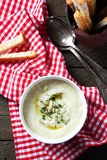 Delicious celery  cream soup in a bowl Royalty Free Stock Photo
