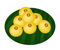 Delicious Charming Moon or Rice Flour Dumplings with Egg Yolks Royalty Free Stock Photos