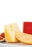 Delicious cheese background. Royalty Free Stock Photos