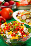 Delicious cheese salad Royalty Free Stock Photos