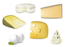 Delicious Cheese Selection Royalty Free Stock Photos