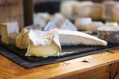 Delicious cheese on a table Stock Photography