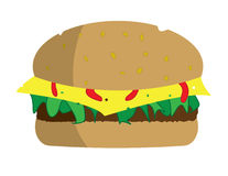 Delicious cheeseburger Royalty Free Stock Images