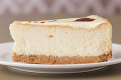 Delicious cheesecake dessert closeup Stock Photos
