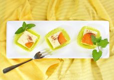 Delicious  Cheesecake slices Stock Images