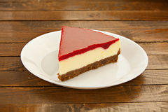 Delicious cheesecake with strawberries Stock Photo