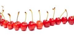 Cherries on white Royalty Free Stock Photos