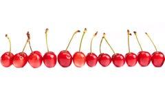 Row of Cherries Stock Photo
