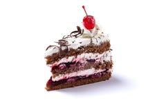 Delicious cherry cake Stock Photos