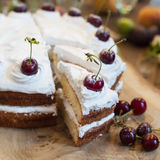 Delicious cherry cake Royalty Free Stock Image