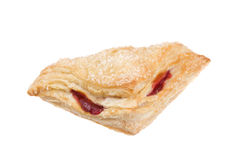 Delicious Cherry Pastry on a White Background Royalty Free Stock Photography