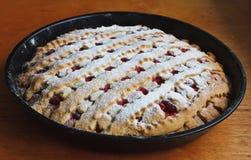 Delicious cherry pie Stock Images