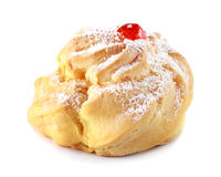 Delicious Cherry puff pastry with powdered sugar Stock Photos