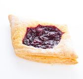 Delicious Cherry puff pastry  Stock Photo