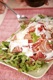 Delicious chicken with bacon and lettuce Stock Photography