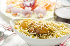 Delicious chicken biriyani Royalty Free Stock Photography
