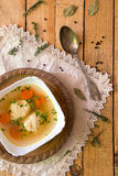Delicious chicken broth soup Stock Photography