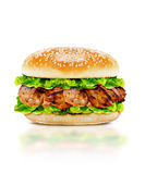 Delicious chicken burger Royalty Free Stock Photos
