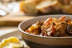 Delicious chicken cacciatore close up Stock Photos