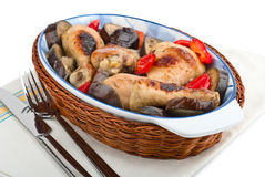 Delicious chicken with Eggplant Royalty Free Stock Image