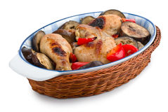 Delicious chicken with Eggplant Royalty Free Stock Photography