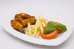 Delicious chicken fingerfood Royalty Free Stock Images