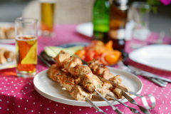 Delicious chicken kebab Royalty Free Stock Image