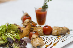 Delicious Chicken kebabs. Cooked at the highest level Stock Photography