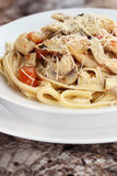 Delicious Chicken Linguine Stock Photography