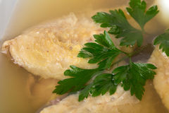 Delicious chicken meat galantine. Royalty Free Stock Photo