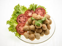 Delicious chicken meatballs Royalty Free Stock Images