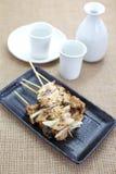 Delicious chicken satay Stock Photo