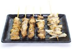 Delicious chicken satay Stock Image