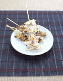 Delicious chicken satay Royalty Free Stock Photo