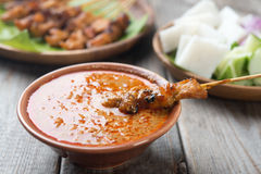 Delicious chicken sate royalty free stock images