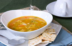 Delicious chicken soup Stock Image