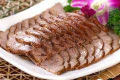 Delicious Chinese food cold dish- dried beef slice royalty free stock image