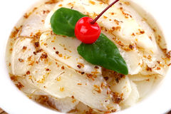 Delicious Chinese food cold dish- sweet yam royalty free stock image