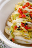 Delicious Chinese food fried dish - hot Chinese ca royalty free stock photo