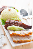 Delicious Chinese roasted pork Stock Photos