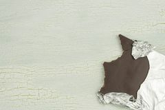 Delicious chocolate in aluminum foil Royalty Free Stock Photo