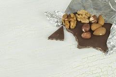 Delicious chocolate in aluminum foil Stock Image