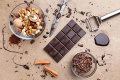 Delicious chocolate background Royalty Free Stock Photos