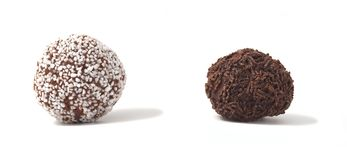 Delicious chocolate balls. Royalty Free Stock Photography