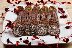 Delicious chocolate biscuits Royalty Free Stock Image