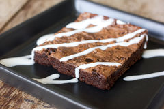 Delicious chocolate brownie Royalty Free Stock Photos