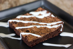 Delicious chocolate brownie Stock Image