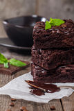 Delicious chocolate brownie Stock Photo