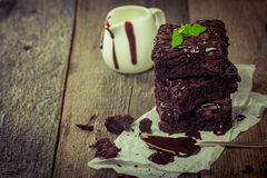 Delicious chocolate brownie Royalty Free Stock Image