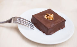 Chocolate Brownie. Delicious Chocolate Brownie ready to be eaten Stock Photography